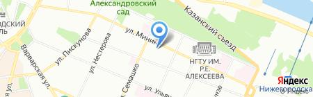 СВЕРХНОВАЯ на карте Нижнего Новгорода