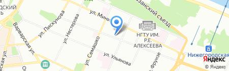 Термотехника на карте Нижнего Новгорода