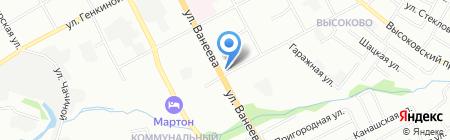 Магазин головных уборов на ул. Ванеева на карте Нижнего Новгорода