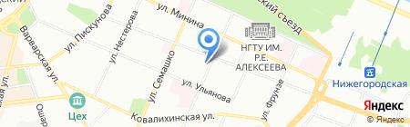 ННГУ на карте Нижнего Новгорода