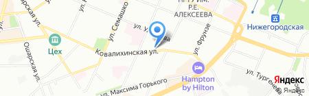 Каравай на карте Нижнего Новгорода