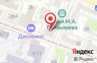 Схема проезда до компании Деком в Нижнем Новгороде