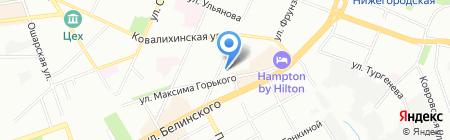 Данко на карте Нижнего Новгорода