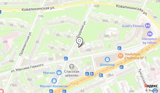 Данко. Схема проезда в Нижнем Новгороде