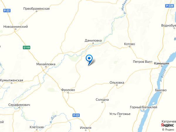 хутор Муравли на карте