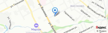 ЭТФ-С на карте Нижнего Новгорода