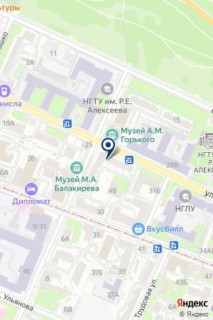 ПКФ ЮСВ-ГОРНЫЕ ВЕЛОСЕДЫ на карте Нижнего Новгорода