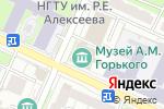 Схема проезда до компании Литературный музей А.М. Горького в Нижнем Новгороде