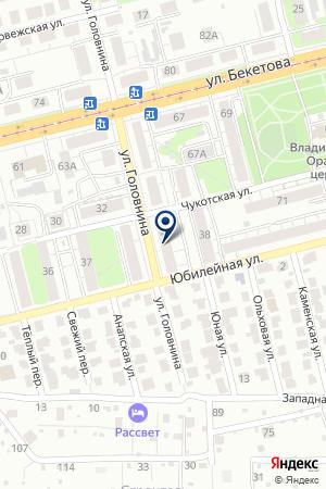 АГЕНТСТВО КОММЕРЧЕСКОЙ БЕЗОПАСНОСТИ ЗАЩИТА на карте Нижнего Новгорода
