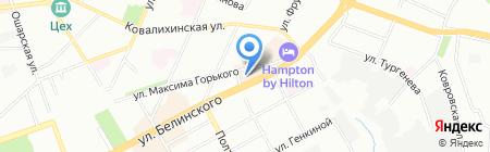 Банкомат АКБ Авангард на карте Нижнего Новгорода