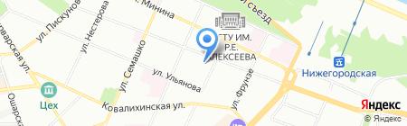 Юпитер-тревел на карте Нижнего Новгорода