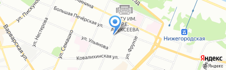 Ахтуба на карте Нижнего Новгорода