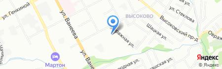Тойота Гибрид Центр на карте Нижнего Новгорода