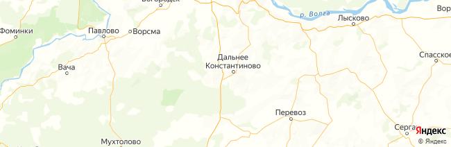 Нижегородская область на карте