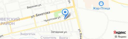 Семь Кубов на карте Нижнего Новгорода