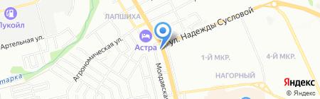 МКС на карте Нижнего Новгорода