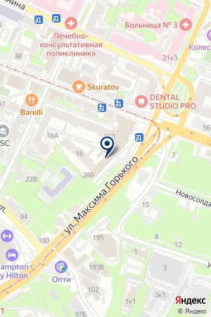 МЕДВЫТРЕЗВИТЕЛЬ НИЖЕГОРОДСКОГО РАЙОНА на карте Нижнего Новгорода