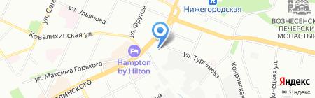Гринвич на карте Нижнего Новгорода