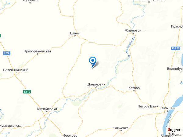поселок Белые Пруды на карте