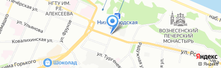 На Сенной на карте Нижнего Новгорода