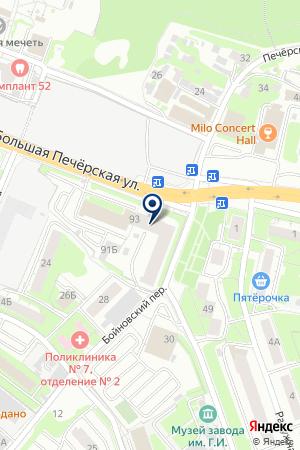 ОХРАННОЕ АГЕНТСТВО КОМБАТ-НН на карте Нижнего Новгорода
