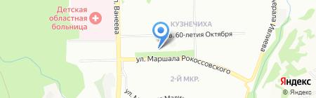 Магазин хозтоваров на ул. Маршала Рокоссовского на карте Нижнего Новгорода