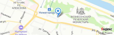 Natr-nn.ru на карте Нижнего Новгорода
