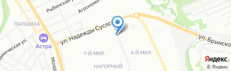 Жет на карте Нижнего Новгорода