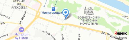 Альфа-Сети на карте Нижнего Новгорода
