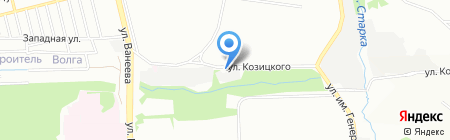 Сытый кот на карте Нижнего Новгорода