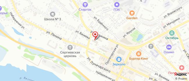 Карта расположения пункта доставки Ростелеком в городе Бор