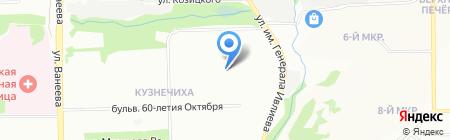 Средняя общеобразовательная школа №187 с углубленным изучением отдельных предметов на карте Нижнего Новгорода