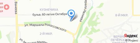 София на карте Нижнего Новгорода