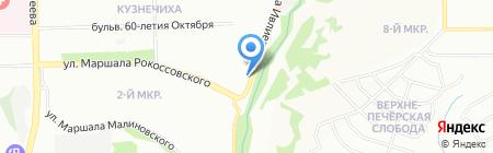 ПенКа на карте Нижнего Новгорода