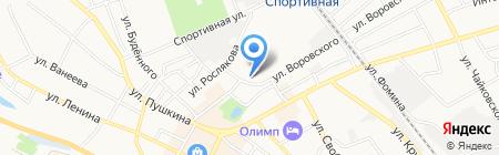Волга на карте Бора