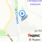 Баня по-русски на карте Нижнего Новгорода