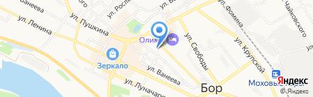 Средняя общеобразовательная школа №4 на карте Бора