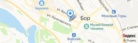 Карандаш на карте Бора