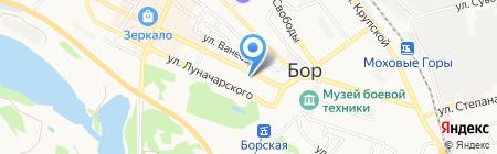 Фонд социального страхования РФ на карте Бора