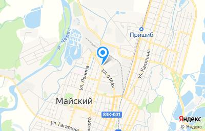 Местоположение на карте пункта техосмотра по адресу Респ Кабардино-Балкарская, г Майский, ул 9 Мая, д 11