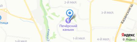 Печерский Каньон на карте Нижнего Новгорода