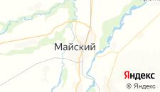 Гостиницы города Майский на карте