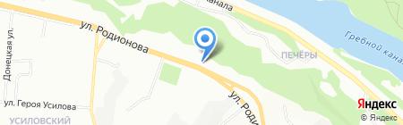 Модель на карте Нижнего Новгорода
