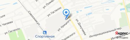АЗС на ул. Кольцова на карте Бора