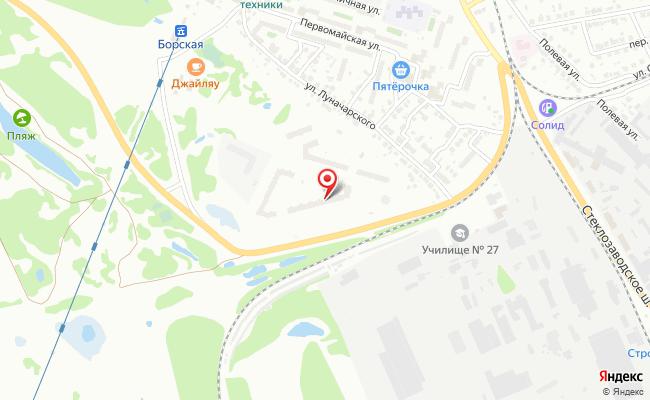 Карта расположения пункта доставки RoutExpress в городе Бор