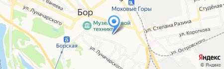 Тетя Мотя на карте Бора