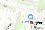 Схема проезда до компании Продуктовый магазин в Боре