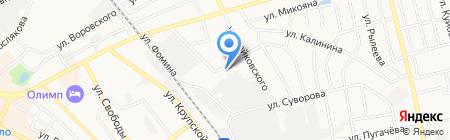Народный на карте Бора