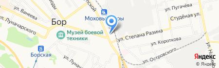 Магазин обуви на ул. Крупской на карте Бора