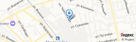 Борское пассажирское автотранспортное предприятие на карте Бора